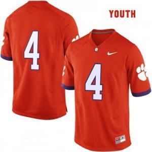 Clemson #4 College - Orange - Youth Football Jersey