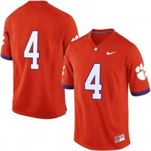 Clemson #4 College - Orange Football Jersey