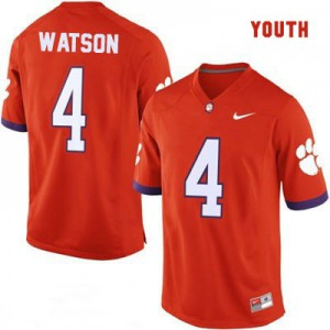 Deshaun Watson Clemson #4 College - Orange - Youth Football Jersey