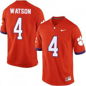 Deshaun Watson Clemson #4 College - Orange Football Jersey