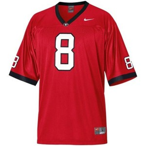 A.J. Green Georgia Bulldogs #8 - Red Football Jersey