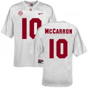 A.J. McCarron Alabama Crimson Tide #10 - White Football Jersey