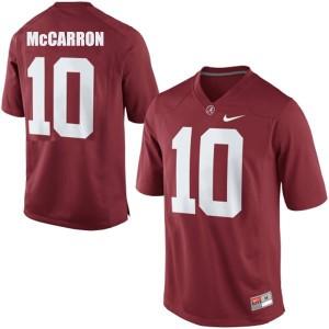 A.J. McCarron Alabama Crimson Tide #10 Youth - Crimson Red Football Jersey