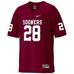 Adrian Peterson Oklahoma Sooners #28 - Crimson Red Football Jersey
