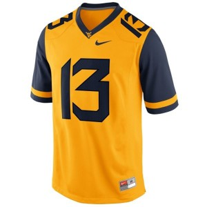 Andrew Buie West Virginia Mountaineers #13 - Gold Football Jersey