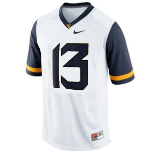 Andrew Buie West Virginia Mountaineers #13 - White Football Jersey
