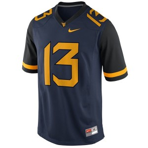Andrew Buie West Virginia Mountaineers #13 Youth - Blue Football Jersey