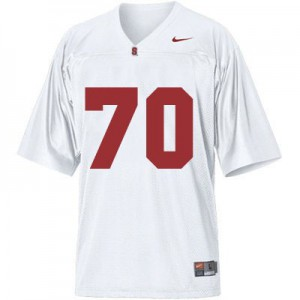 Andrus Peat Stanford Cardinal #70 - White Football Jersey