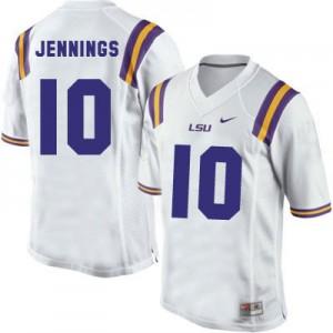 Anthony Jennings LSU Tigers #10 - White Football Jersey
