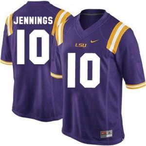 Anthony Jennings LSU Tigers #10 Youth - Purple Football Jersey