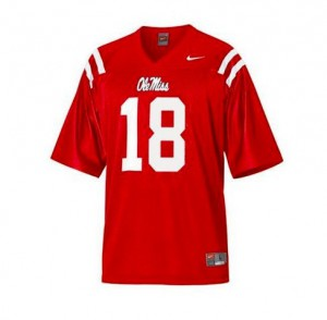 Archie Manning Ole Miss Rebels #18 Youth - Red Football Jersey