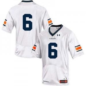 Auburn Tigers #6 College - White Football Jersey