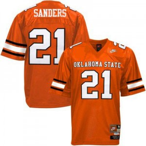 Barry Sanders Oklahoma State Cowboys #21 - Orange Football Jersey