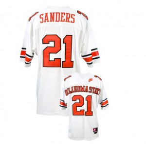 Barry Sanders Oklahoma State Cowboys #21 Youth - White Football Jersey