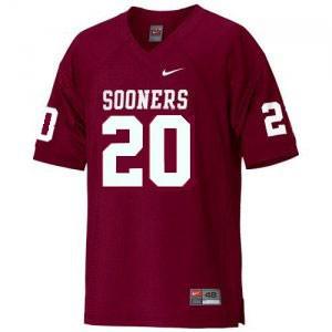 Billy Sims Oklahoma Sooners #20 - Crimson Red Football Jersey