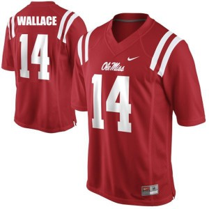 Bo Wallace Ole Miss Rebels #14 - Red Football Jersey