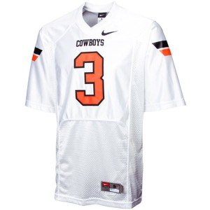 Brandon Weeden Oklahoma State Cowboys #3 Youth - White Football Jersey