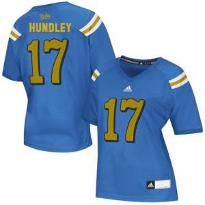 Brett Hundley UCLA Bruins #17 Women - Blue Football Jersey