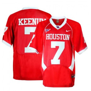 Case Keenum Houston Cougars #7 - Red Football Jersey