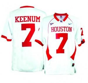 Case Keenum Houston Cougars #7 - White Football Jersey