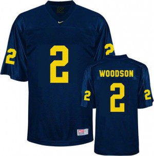 Charles Woodson UMich Wolverines #2 Youth - Navy Blue Football Jersey
