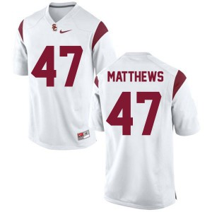 Clay Matthews USC Trojans #47 - White Football Jersey