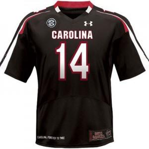 Connor Shaw South Carolina Gamecocks #14 - Black Football Jersey