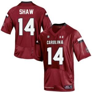 Connor Shaw South Carolina Gamecocks #14 - Red Football Jersey