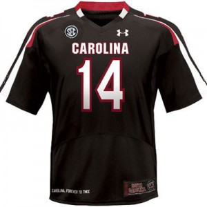 Connor Shaw South Carolina Gamecocks #14 Youth - Black Football Jersey