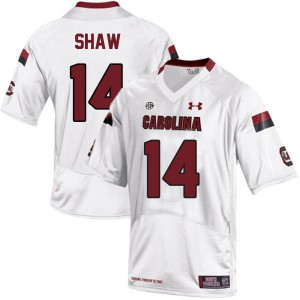 Connor Shaw South Carolina Gamecocks #14 Youth - White Football Jersey