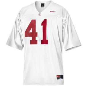 Courtney Upshaw University of Alabama Crimson Tide #41 - White Football Jersey