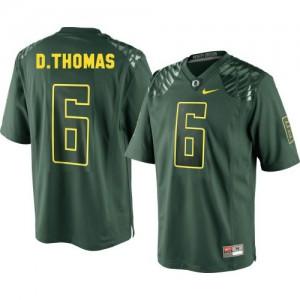 De'Anthony Thomas Oregon Ducks #6 - Green Football Jersey