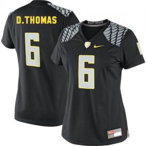 De'Anthony Thomas Oregon Ducks #6 Women - Black Football Jersey