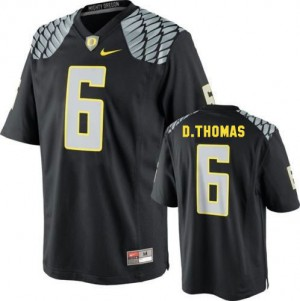 De'Anthony Thomas Oregon Ducks #6 Youth - Black Football Jersey