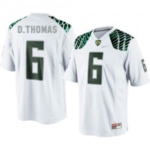 De'Anthony Thomas Oregon Ducks #6 Youth - White Football Jersey