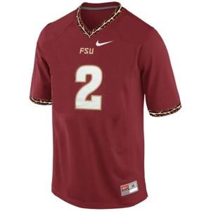 Deion Sanders FSU #2 - Red Football Jersey