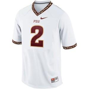 Deion Sanders FSU #2 - White Football Jersey