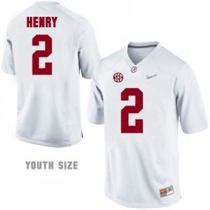Derrick Henry #2 Alabama Diamond Quest Playoff - White - Youth Football Jersey