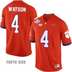 Deshaun Watson #4 Clemson 2016 Playoff - Orange - Youth Football Jersey
