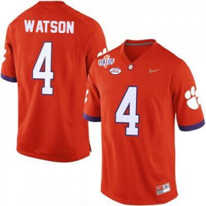 Deshaun Watson #4 Clemson Diamond Quest - Orange Football Jersey