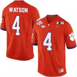Deshaun Watson #4 Clemson National Championship - Orange Football Jersey