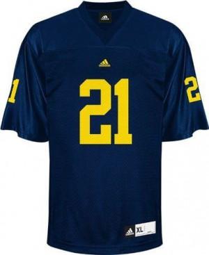 Desmond Howard UMich Wolverines #21 - Navy Blue Football Jersey