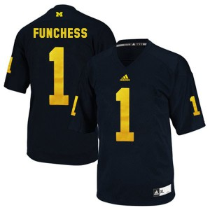 Devin Funchess UMich Wolverines #1 - Blue Football Jersey