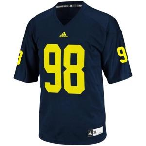 Devin Gardner UMich Wolverines #98 - Navy Blue Football Jersey