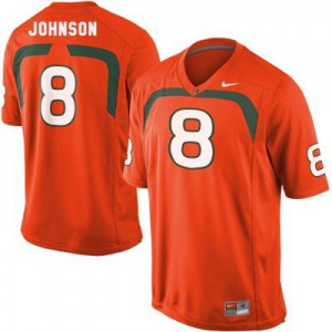Duke Johnson U of M Hurricanes #8 - Orange Football Jersey