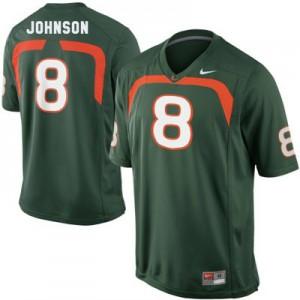 Duke Johnson Miami Hurricanes #8 Youth - Green Football Jersey