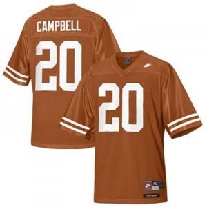 Earl Campbell Texas Longhorns #20 Youth - Orange Football Jersey