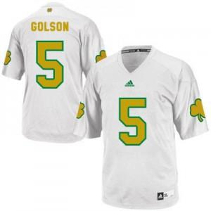 Everett Golson Notre Dame Fighting Irish #5 Shamrock Series - White Football Jersey