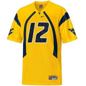 Geno Smith West Virginia Mountaineers #12 - Gold Football Jersey