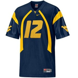 Geno Smith West Virginia Mountaineers #12 Youth - Blue Football Jersey